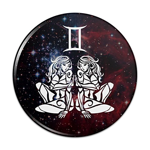 Gemini Twins Zodiac Sign Horoscope in Space Compact Pocket Purse Hand Cosmetic Makeup Mirror - 3