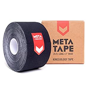 fbb600cfe1f Amazon.com: MetaTape Kinesiology Tape, 2 in. x 25 ft. Uncut Roll ...