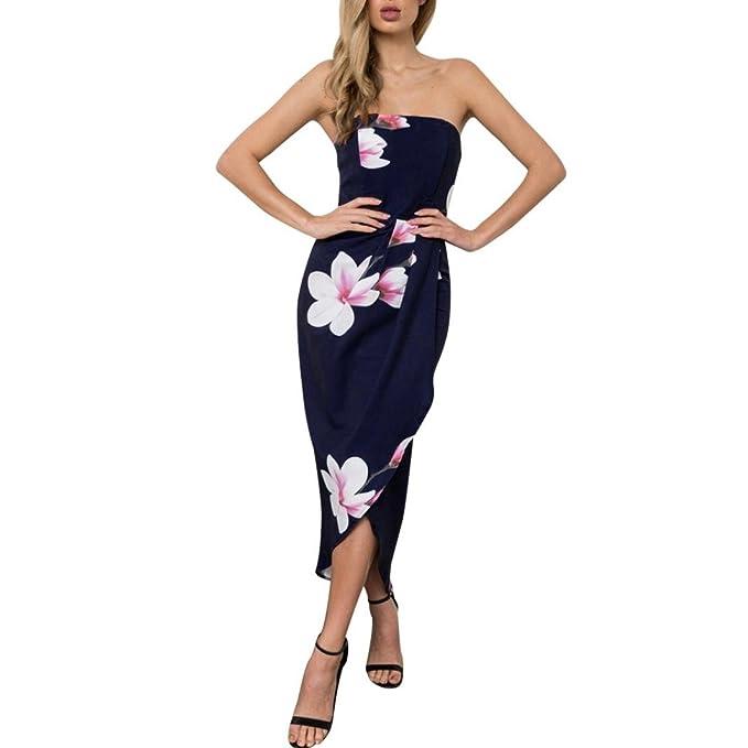 Rcool Damen Kleider Sommer Knielang Trägerlosen Boho Kleid Strandkleid Sommerkleid  Maxikleid  Amazon.de  Bekleidung a3b6b4d6c8