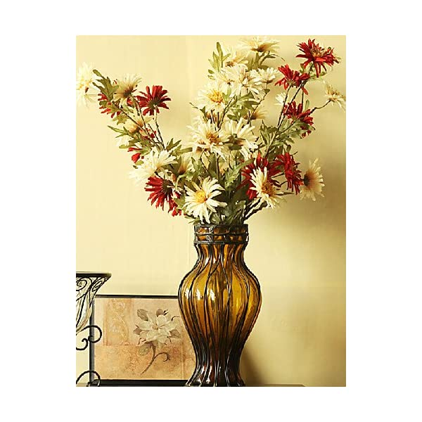HUAHUA Artificial Flowers, Fashion Bouquets,Beige American Country Style Fabric Cosmos