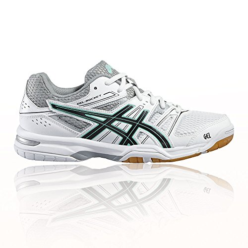 7 Femme Silver De Gel Chaussures Asics At Hwp5zn Rocket Volleyball 0BY1TAtq