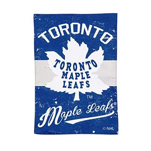 Toronto Maple Leafs EG Vintage Garden Flag Premium 2-Sided Retro Banner Hockey ()