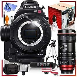 Canon C100 Cinema EOS Camera with CN-E 18-80mm T4.4 Compact-SERVO Cinema Zoom Lens, Rode VideoMic Essential Vlogging Bundle