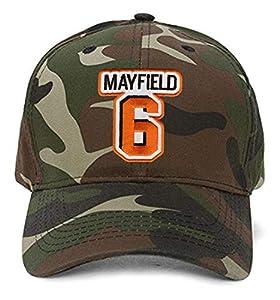 Baker Mayfield Hat - Cleveland Football Adjustable Cap (Camo)