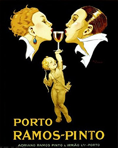 EuroGraphics Porto Ramos-Pinto by Rene Vincent  Vintage Art Deco Wine Advertising Reproduction Print Poster 24x36