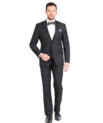Giorgio Fiorelli Mens 2 Button 2 Piece Suit Euro Slim Fit at ...