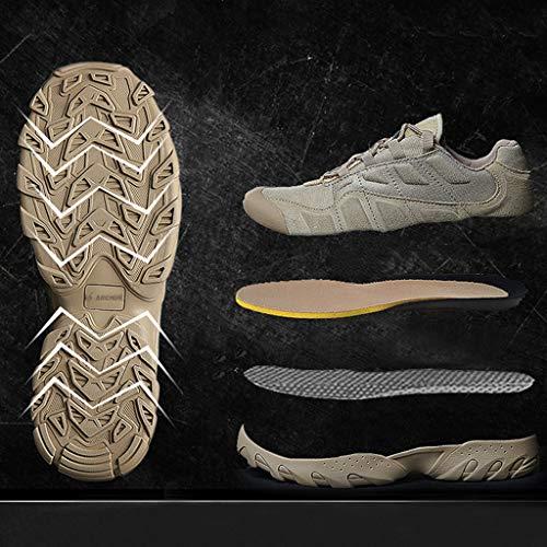HJHHJHAB Bottes de l'armée Tactique Hommes Chaussures de Sport Basses imperméables Chaussures de randonnée en Plein air… 2