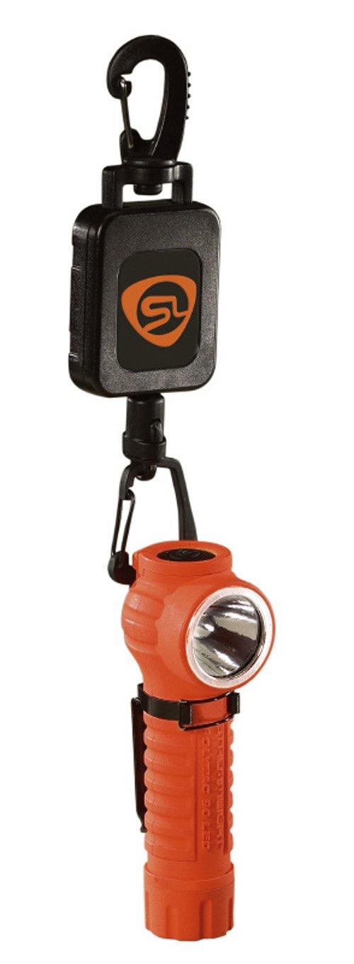 Streamlight 88832 PolyTac 90 LED Flashlight with Gear Keeper Orange 170 Lumens Streamlight Inc