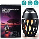 LED Flame Bluetooth Speaker,XINYI Bluetooth V4.2 LED Flame Lamp Stereo Bluetooth Speaker Dancing Flicker Flame Wireless Speaker Atmosphere Soft Light for iPhone iPad Android,1Pcs