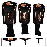 NFL Cleveland Browns 3 Pack Mesh Longneck Headcover Set