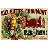 Posters: Vintage Poster Reproduction - Aux Buttes Chaumont - Jouets Et Objets Pour Etrennes (50 x 40 cm)