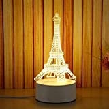 3D Plug Acrylic Night Light LED Table Desk for Home Bedroom Decoration Gifts Warm White Lamp