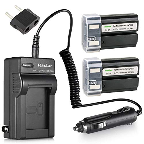 (Kastar EN-EL1 Battery (2-Pack) and Charger Kit for Nikon ENEL1, Minota NP-800 and Nikon Cooipix 4300 4500 4800 5400 5700 775 8700 880 885 995 Coolpix E880 and Konica Minota DG-5W Dimage A200 Cameras)