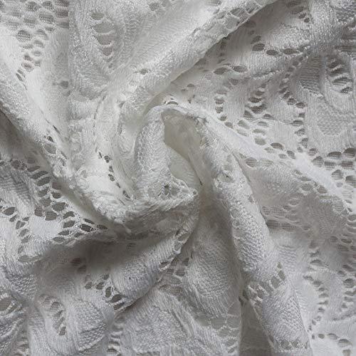 Dénudées Hauts Bozevon Blouse En shirt T Solide Shirt À Décontracté T Blanc Épaules Dentelle Femme 7f4UwPx7q