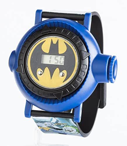 Batman Kid's Digital Watch Display And Blue Plastic Strap Bat13Dc With Yellow Dial