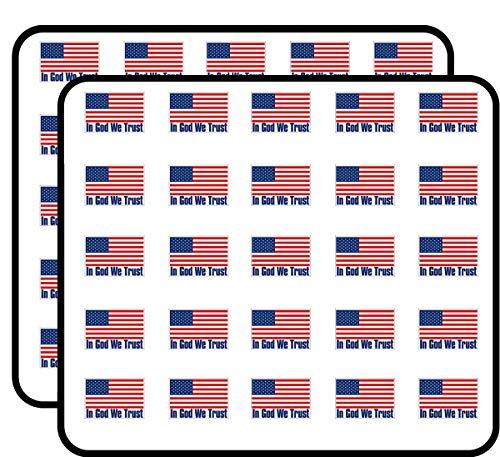 Trust Album - USA Flag w/in God We Trust (us America Patriotic) Sticker for Scrapbooking, Calendars, Arts, Kids DIY Crafts, Album, Bullet Journals
