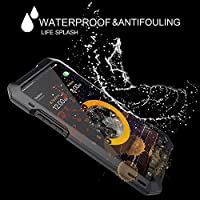 Ocamo Phone Case Waterproof Shockproof Metal Case Back Cover with 3 Camera Lens for iPhone X 7/8 7/8 Plus