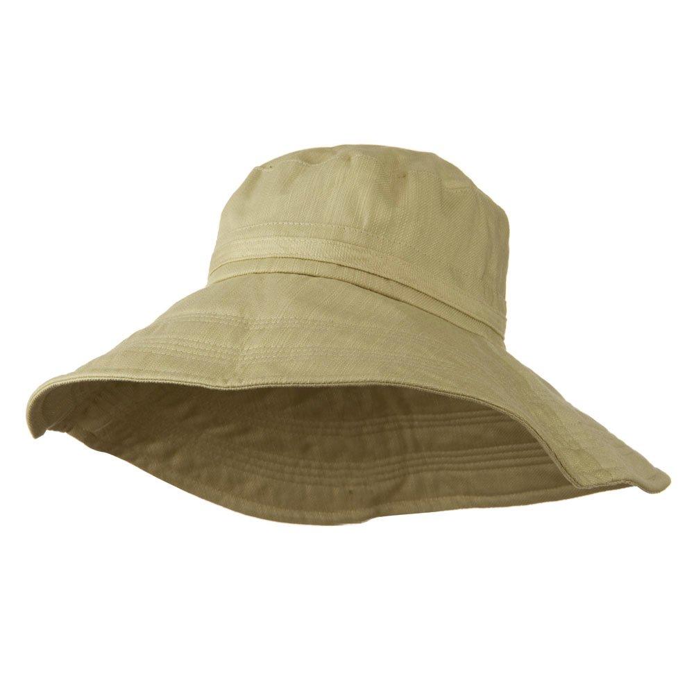 e4Hats.com Big Size Ladies Linen Wide Brim Hat - Khaki 2XL