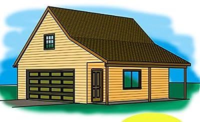 Cad Northwest Residential Garage Blueprint - Style J - 24' x 30' Garage Plan by Cad Northwest