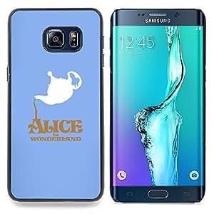 """Qstar Arte & diseño plástico duro Fundas Cover Cubre Hard Case Cover para Samsung Galaxy S6 Edge Plus / S6 Edge+ G928 (Alicia en el país Wonderlnd"""")"""