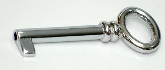 Möbelschlüssel  Schrankschlüssel  Nickel glänzend