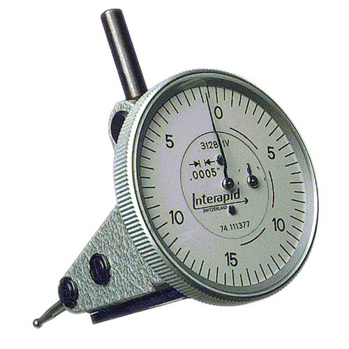 INTERAPID Vertical Type Dial Test Indicator - Model: 312B-2V Dial Reading: 0-15-0 Graduation: .0005