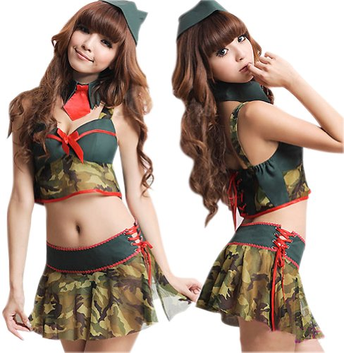 Lingeriecats Sexy General 3 Pieces Costume (Sexy Soldier Costumes)