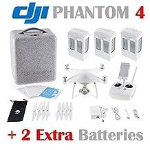 DJI Phantom 4 Quadcopter w/ 4K HD Camera & Gimbal + 2 Extra Batteries (Total: 3 batteries) by DJI