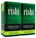 Rishi Tea Jasmine Pearl Green Loose Leaf Tea, 3 Ounce Tin (Pack of 2)