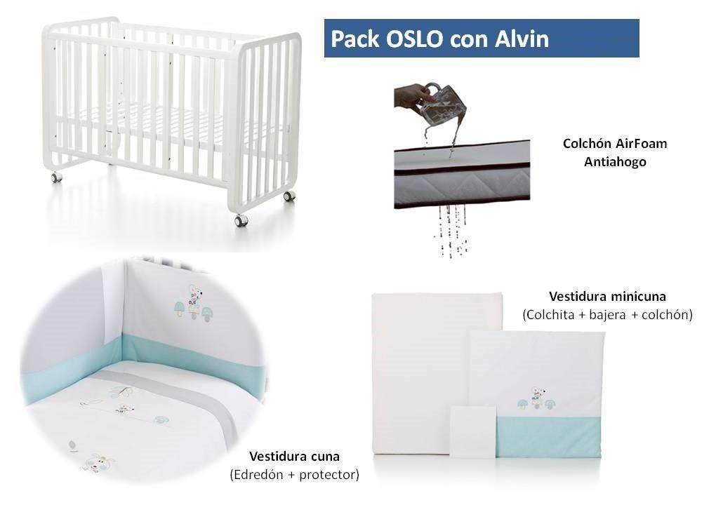 Bolin Bolon Pack Cuna-minicuna colecho OSLO completa ALVIN: Amazon.es: Bebé