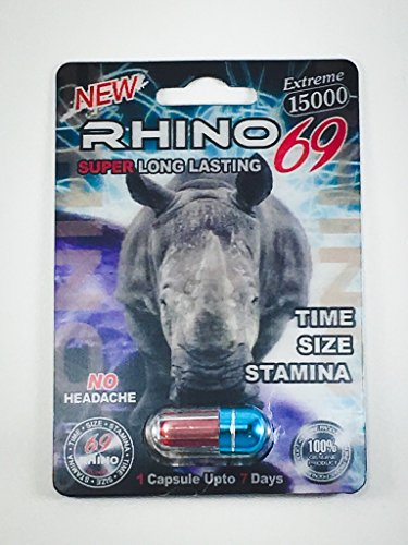 Rhino 69 Sex Pills - 15,000 All Natural Male Enhancement Formula (6 pack)