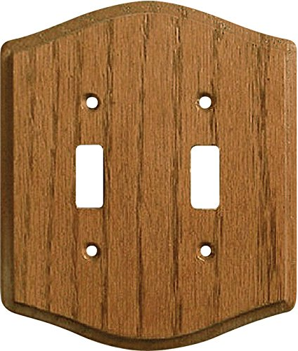 Creative Accents Country Oak Wall Plate Solid Light Oak Country Oak 2 Gang Red Ul Carded 2 Pack