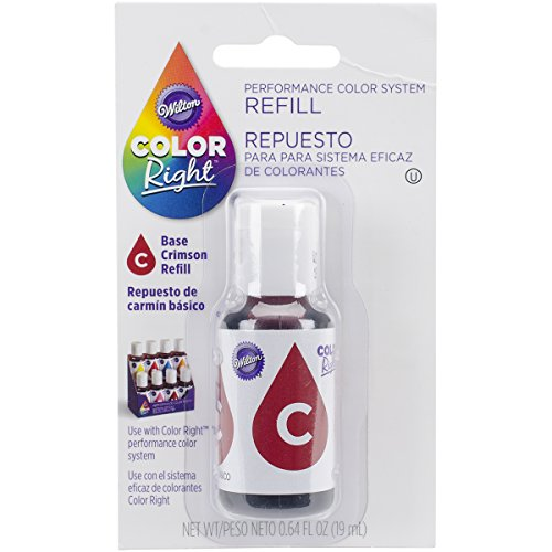 (Wilton Right Food Color System Refill, .07 oz, Red #1)