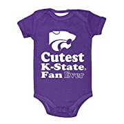 Two Feet Ahead NCAA Kansas State Wildcats Children Unisex Lap Shoulder Creeper,6 mo,Purple
