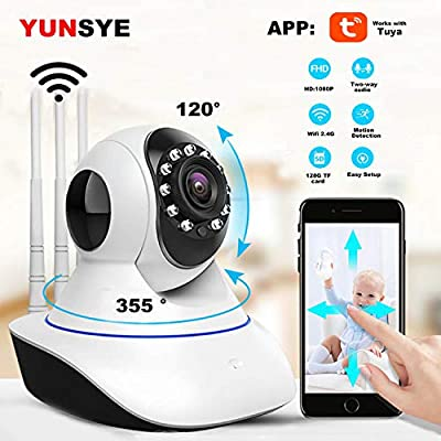 Wireless Home Security System Camera WIFI IP Room cam 1080P