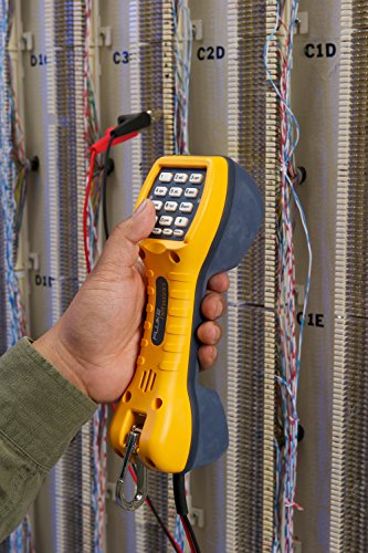 Image of Fluke Networks TS30 Telephone Test Set with Angled Bed-of-Nails Clips