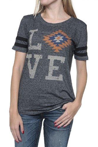 True Religion Camiseta Con Motivo SERAPE LOVE CREW Negro
