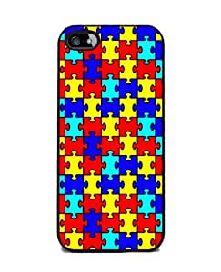 Autism Awareness Puzzle Pieces - iPhone 5 Cover, Cell Phone Case - Black by Maris's Diary