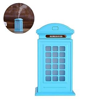 Humidificador clásico cabina de teléfono, de Found Me, 300 ml, alta capacidad,