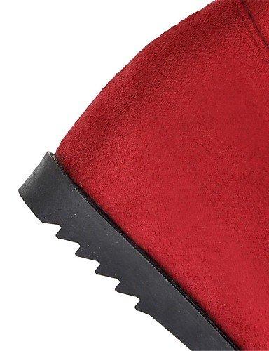 Eu36 Cuero Bajo Mujer Rojo us8 Gris Uk6 Botas De Negro Punta La Vestido Uk4 Redonda Zapatos Cn36 Sintético A Tacón Marrón Xzz us6 Brown Cn39 Grey Eu39 Moda 7axw4If