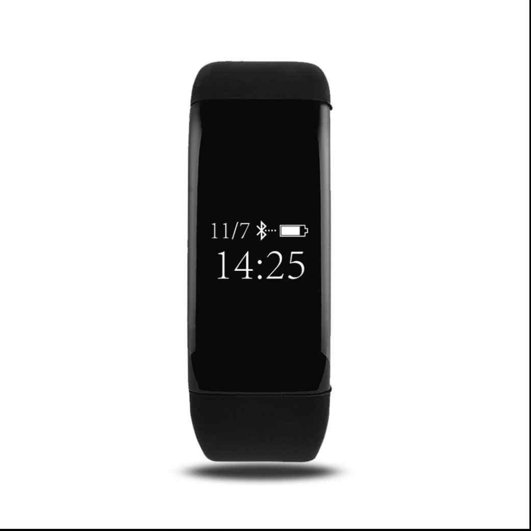 Bluetooth Deporte Smartwatch Armband Wrist pantalla graba fotos la distancia Movimiento Recordatorio Anti sudor smartarmband podómetro portátil para iPhone Android Smartphone: Amazon.es: Deportes y aire libre