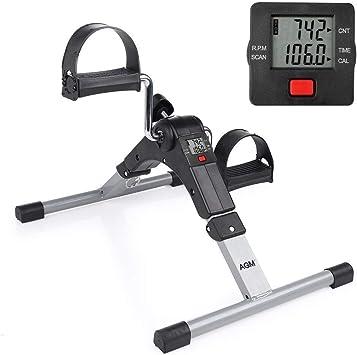 Mini bicicleta estática Plegable pedales aparato de ejercicios ...