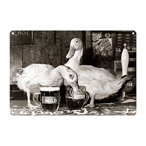 Drunken Duck (Drunken Ducks - Premium Metal Sign 20x30cm gloss finish advertising signs - Art247 by art247)