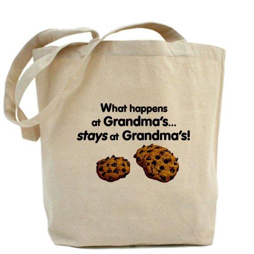 CafePress–se queda en abuelas.–gamuza de bolsa de lona bolsa, bolsa de la compra