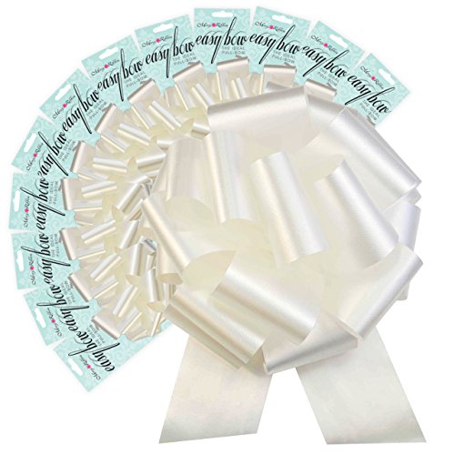 Morex Ribbon Easy Bow 12 Pack, Polypropylene, 8 inches, White, Item 9187.60/12-601, 8