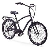 sixthreezero EVRYjourney Men's 26-Inch 7-Speed Hybrid Cruiser Bicycle, Matte Black