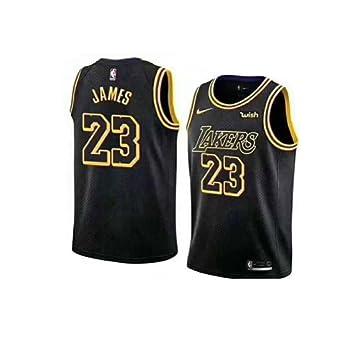 NBA LA James 23 Swingman Men Jersey Hombres (Negro, XL): Amazon.es: Deportes y aire libre