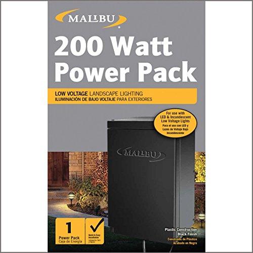 LED Malibu 200 watt Outdoor Transformer with digital timer photo eye