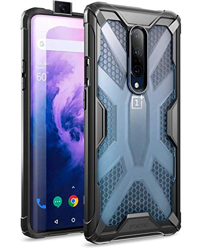 Poetic OnePlus 7 Pro Case, Premium Hybrid Protective Clear Bumper Cover, Rugged Lightweight, Military Grade Drop Tested, Affinity Series, for OnePlus 7 Pro (2019), Frost - Affinity Series
