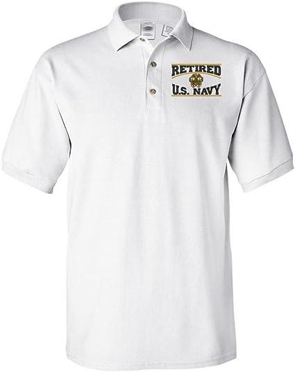 Navy Retired Polo Shirt Military Retired Navy U.S